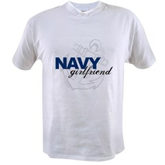 Navy Girlfriend: Sailor's LOV Value T-shirt