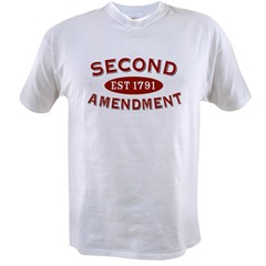 Second Amendment 1791 Value T-shirt
