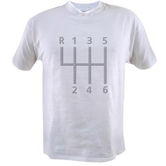 2-Stick Shift 6 Speed.psd Value T-shirt