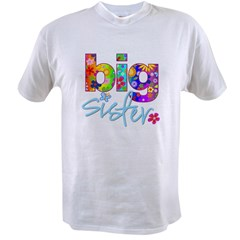 2-big sister flower back Value T-shirt