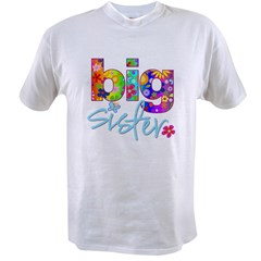 big sister t-shirt flower Value T-shirt