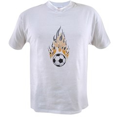 Soccer Ball & Flame Value T-shirt