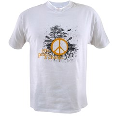 give_peace_scene_orange_dark Value T-shirt