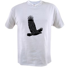 Isaiah 40:31 Eagle Value T-shirt