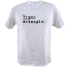 Times a'Changin/Bob Dylan Value T-shirt