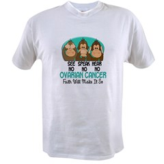 See Speak Hear No Ovarian Cancer 1 Value T-shirt