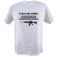 3-Guns dont kill people.jpg Value T-shirt