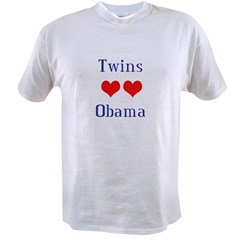 Twins Love Obama Value T-shirt