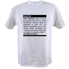 Evil Genius Personal Ad Value T-shirt