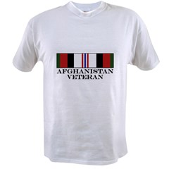 Afghanistan Veteran Medal Value T-shirt