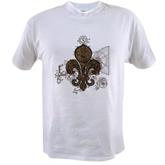 Clockwork Fleur De Lis Value T-shirt