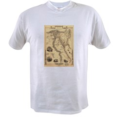 Ancient Egypt Map Value T-shirt