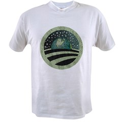 ObamaEarth-distressed on black Value T-shirt