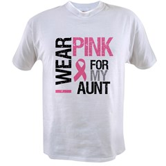 I Wear Pink (Aunt) Value T-shirt