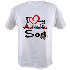 I Love My Autistic Son 2 Value T-shirt