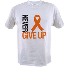 NeverGiveUp OrangeRibbon Value T-shirt