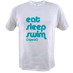 Eat, Sleep, Swim Value T-shirt