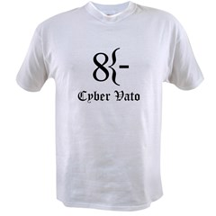 Cyber Vato Black Text Value T-shirt