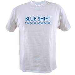 Blue Shift (front) Red Shift Value T-shirt