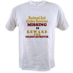 Husband & Golden Retriever Missing Value T-shirt