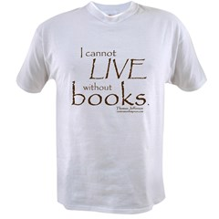 Without Books Value T-shirt