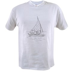 Sailboat Cats Value T-shirt