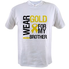 I Wear Gold For My Brother Value T-shirt