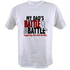 My Battle Too 1 PEARL WHITE (Dad) Value T-shirt