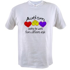 Autism, Seeing The World From A Different Angle Value T-shirt