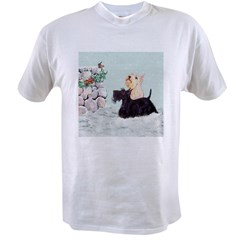 Winter Scotties &amp; Wren Value T-shirt