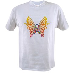 Autism Butterfly Ribbon Value T-shirt