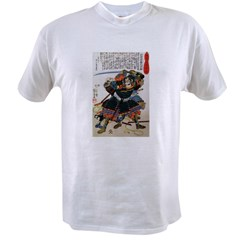 Japanese Samurai Warrior Morimasa (Front) Value T-shirt