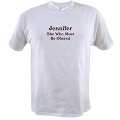 Personalized Jennifer Value T-shirt