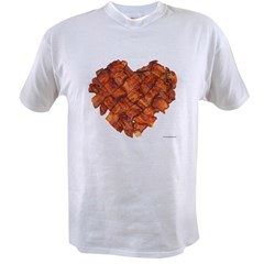 Bacon Heart - Value T-shirt