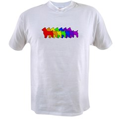 Rainbow Australian Terrier Value T-shirt
