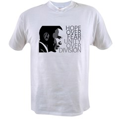 Obama - Hope Over Division - Grey Value T-shirt