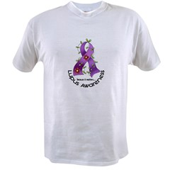 Flower Ribbon LUPUS Value T-shirt