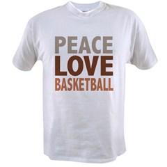 Peace Love Basketball Value T-shirt
