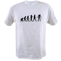Funny Zombie Evolution Value T-shirt