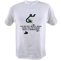 Leprechaun fishing Value T-shirt