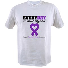 Alzheimer's MissMyDad Value T-shirt