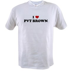 I Love PVT BROWN Value T-shirt