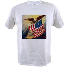 """Eagle with Flag"" Value T-shirt"