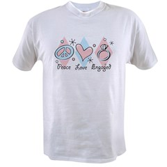 Peace Love Engaged Value T-shirt