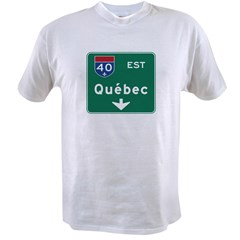 Quebec, Canada Hwy Sign Value T-shirt