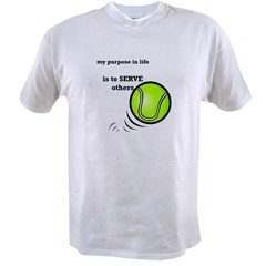 Tennis: Serve Others Value T-shirt