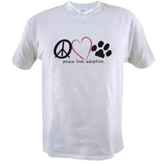 peace love adoption.001 Value T-shirt