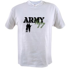 Designs of an Army Wifey Value T-shirt