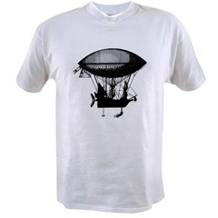 Steampunk pirate airship Value T-shirt
