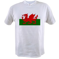 Flag of Wales (Welsh Flag) Value T-shirt